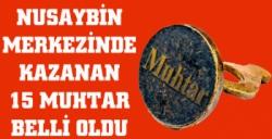Nusaybin'de kazanan muhtarlar belli oldu