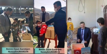 Nusaybin'de kırsal mahalle öğrencilerine 'Benim Oyun Sandığım' Projesi