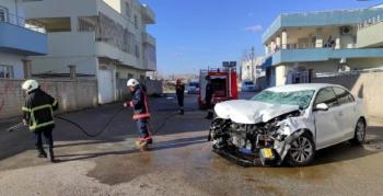 Nusaybin'de otomobil ile motosiklet kazasında 1'i ağır 2 yaralı