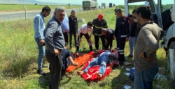 Nusaybin'de tır kaza yaptı, 1 yaralı