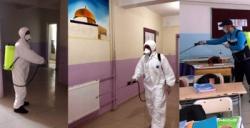 Nusaybin'de tüm okullar dezenfekte edilerek yıkandı