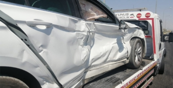 Nusaybin İpek Yolunda trafik kazası, 1 yaralı