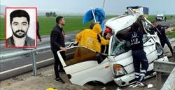 Nusaybin İpek yolundaki kaza 1 kişi hayatını kaybetti