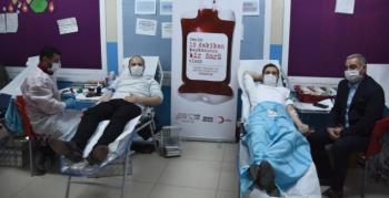 Nusaybin Kaymakamından Kan Bağışına destek