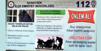 Nusaybin Polisi, hırsızlığa karşı vatandaşları uyarıcı afiş hazırladı
