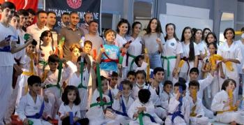 Nusaybin Taekwondo Okulunda kuşak sınavı