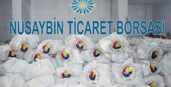 Nusaybin Ticaret Borsası, ihtiyaç sahibi 1025 aileye gıda yardımında bulundu