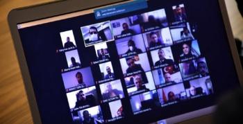Online olarak İlçe Milli Eğitim Müdürlüğü değerlendirme toplantısı yapıldı