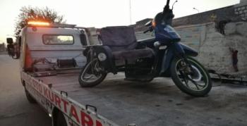 Otomobil ile engelli motosikletin karıştığı kazada 3 yaralı