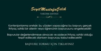 Seyit Mustafa Çelik ailesi, ramazan yardımı başvurusuinternet üzerinden alınacak