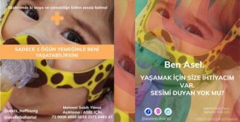 SMA Hastası Asel için yardım kampanyası başladı