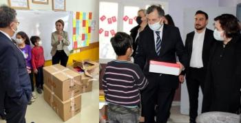 TMT'DEN Mardin'de köy okullarına oyuncak ve ayakkabı yardımı
