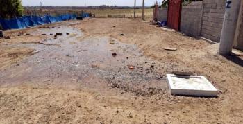 Yenişehir Mahallesinde patlayan su borusu tarlaları balçıka çevirdi