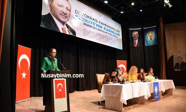 Ak Parti Nusaybin'de Kadın Kolları 5. Olağan kongresini yaptı