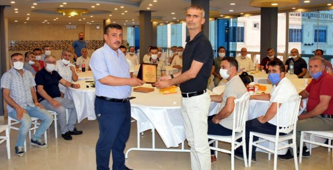 Karaman'a tayin olan Milli Eğitim Şube Müdürü Keleş için veda programı