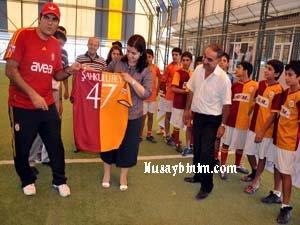 Şahkulubey, GS Futbol okulunu ziyaret etti