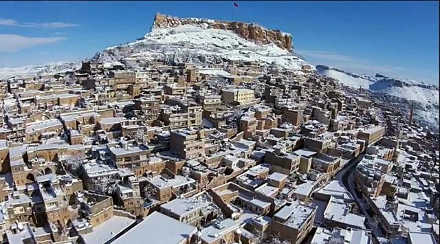 Mardin'in 'Kar Manzarası' büyüledi