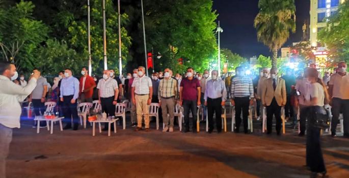 Nusaybin'de 15 Temmuz'un 4. yılında Demokrasi nöbeti tutuldu