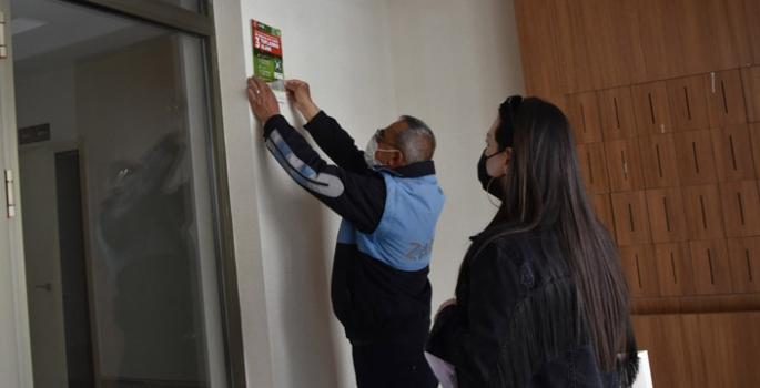 Nusaybin'de 611 bina girişine Afet ve Acil Durumlar Toplanma Alanı Tabelası Asıldı