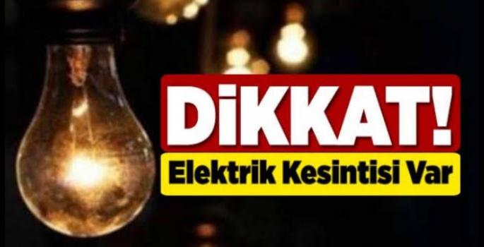 Nusaybin'de Cumartesi günü elektrik kesintisi olacak
