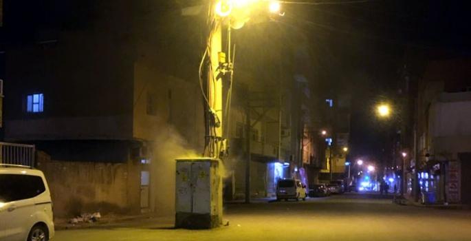 Nusaybin'de elektrik trafosu yandı