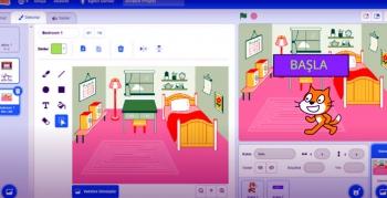 Nusaybin'de İnternet üzerinden öğrencilere kodlama dersi