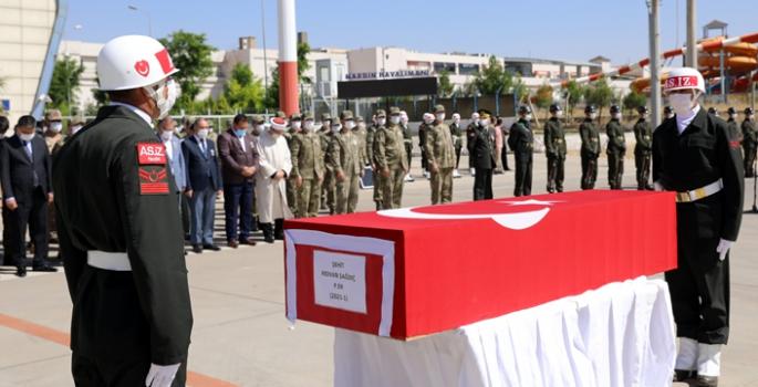 Nusaybin'de şehit olan asker için tören düzenlendi