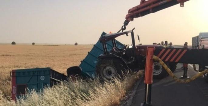 Nusaybin'de traktör devrildi, 1 yaralı