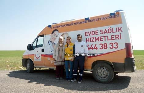 Nusaybinde 59 hasta evde sağlık hizmeti alıyor