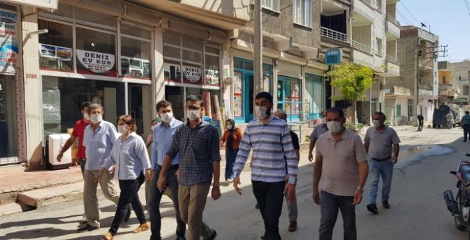 Nusaybin HDP'den esnafa '1 Eylül' ziyareti