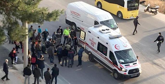 Nusaybin ilçe merkezinde kaza, 2 yaralı