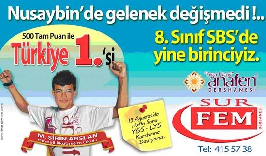 SBS 8 Türkiye 1'incisi Fatih Kolejini tercih etti