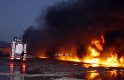 Nusaybin'de çıkan yangın korku dolu anlar yaşattı