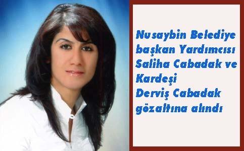 Nusaybin Belediye Başkan yardımcısı Cabadak gözaltına alındı