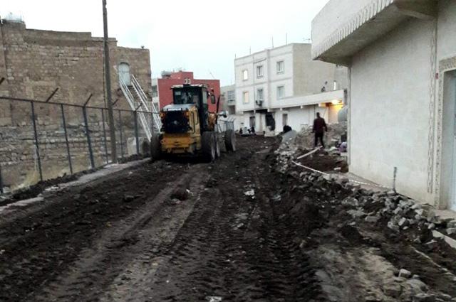 Nusaybin'de İnanç Parkı çevresi iyileştirme çalışmalarına başlandı