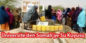 Üniversiteden Somaliye Su Kuyusu