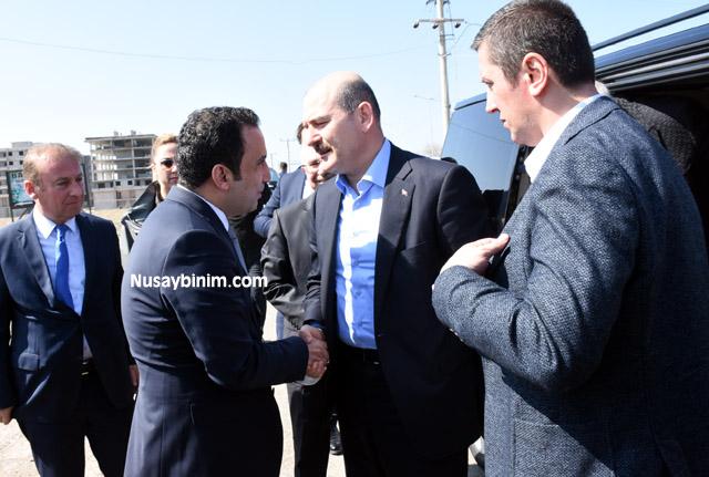 İçişleri Bakanı Soylu Nusaybin'i ziyaret etti