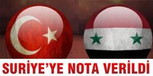 Ankara Şam yönetimine nota verdi.