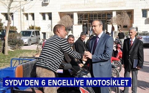 Nusaybin'de 6 Engelliye Motosiklet hibe edildi