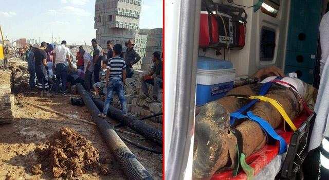 Nusaybin'deki TOKİ inşaatında çalışan işçi düştü