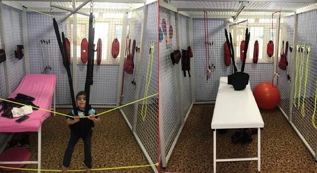 Nusaybin'de engelli çocuklara yönelik uzay terapisi açıldı