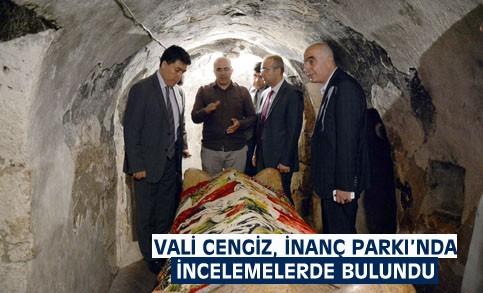 Vali Cengiz İnanç Parkı'nda incelemelerde bulundu