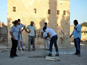 Nusaybin'de 'İnanç Parkı' Kazısı başladı