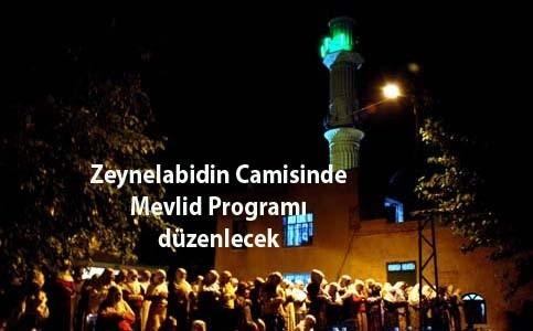 Nusaybin Zeynel Abidin Camiinde kandil programı düzenlenecek