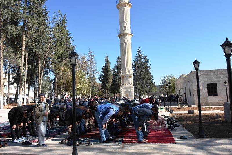 Restorasyondan geçen Nusaybin Zeynel Abidin Camii ibadete açıldı