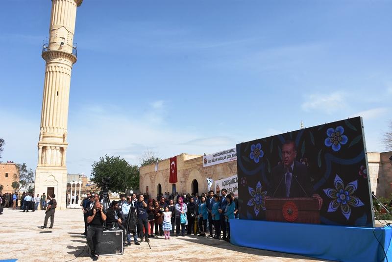Cumhurbaşkanı Erdoğan Video Konferansla Nusaybin Zeynel Abidin Camisinin açılışına bağlandı