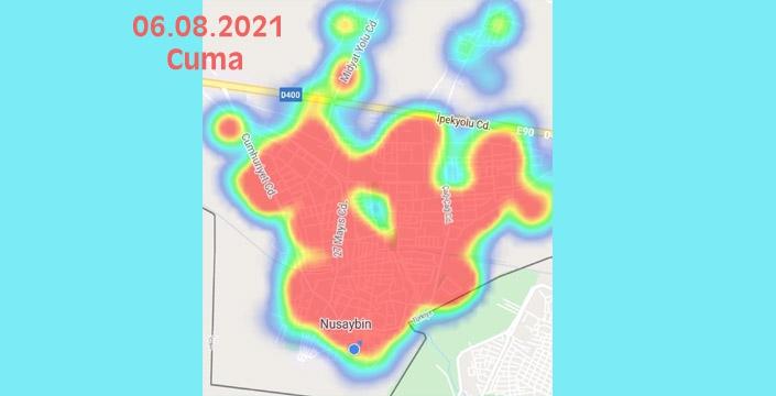 Kovid-19'da Nusaybin için korkutucu harita