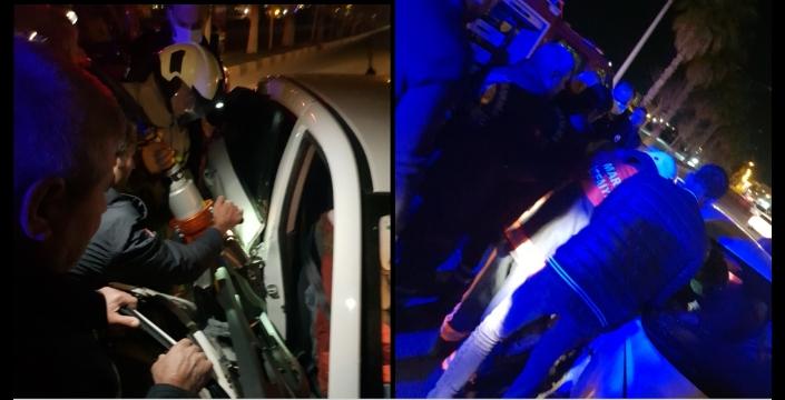 Mardin Yolu Caddesinde trafik kazası, 3 yaralı