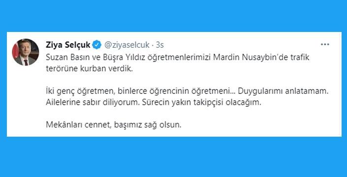 Milli Eğitim Bakanı Selçuk'tan başsağlığı mesajı