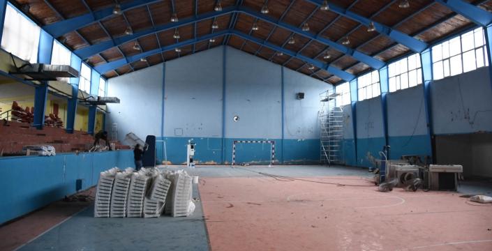 Nusaybin Atatürk Spor Salonu tadilata alındı